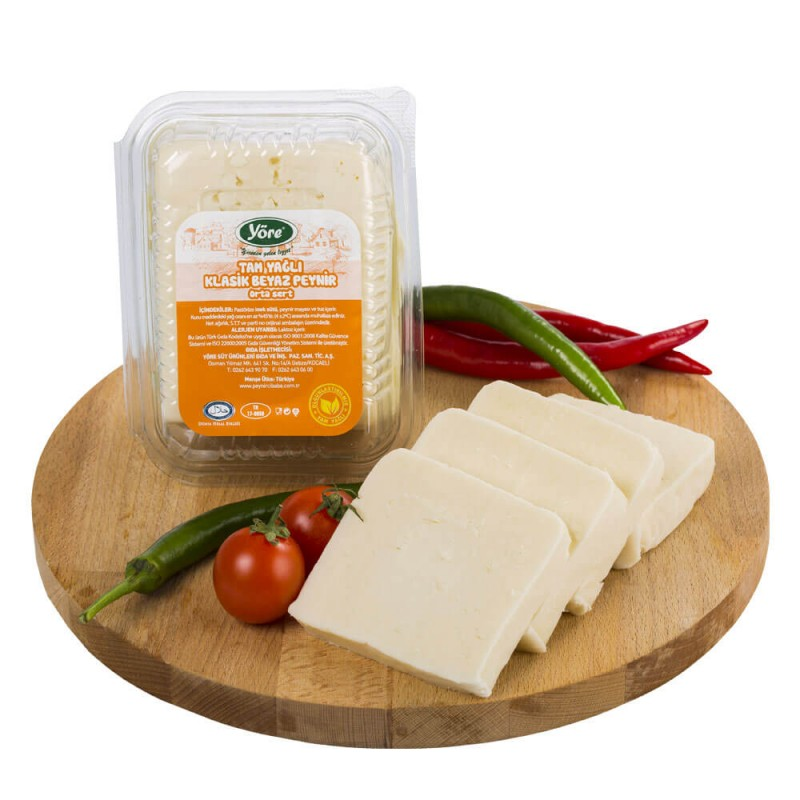 Yöre Ezine Klasik Tam Yağlı İnek Beyaz Peynir Orta Sert ürünü