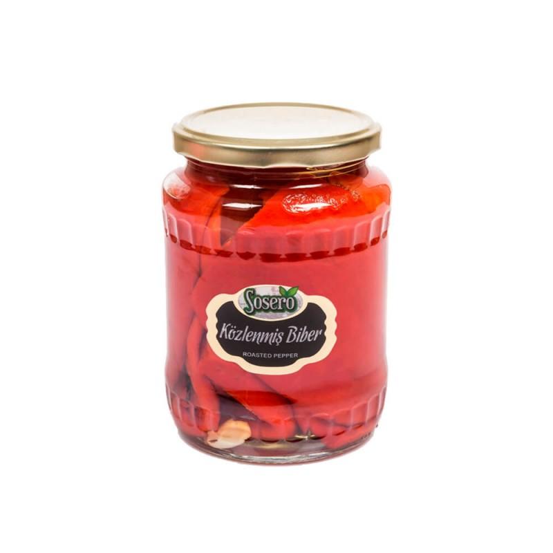 Sosero Közlenmiş Kırmızı Biber 690 gr Cam Kavanoz ürünü