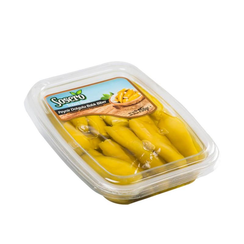 Sosero Peynir Dolgulu Balık Biber 250 gr Vakum Tabak ürünü