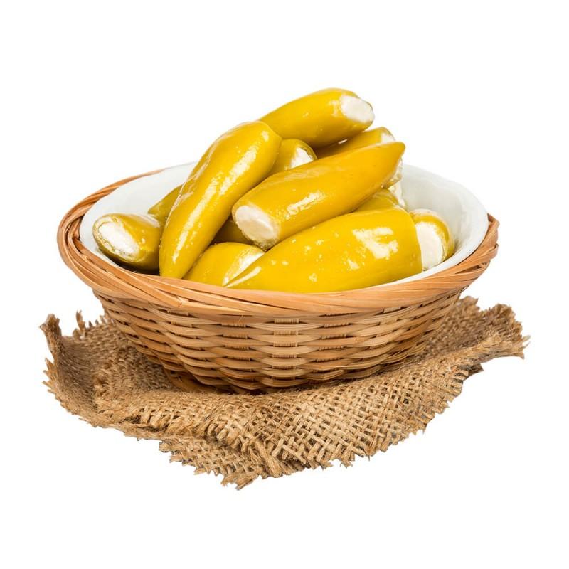 Sosero Peynir Dolgulu Balık Biber 1300 gr Tabak ürünü