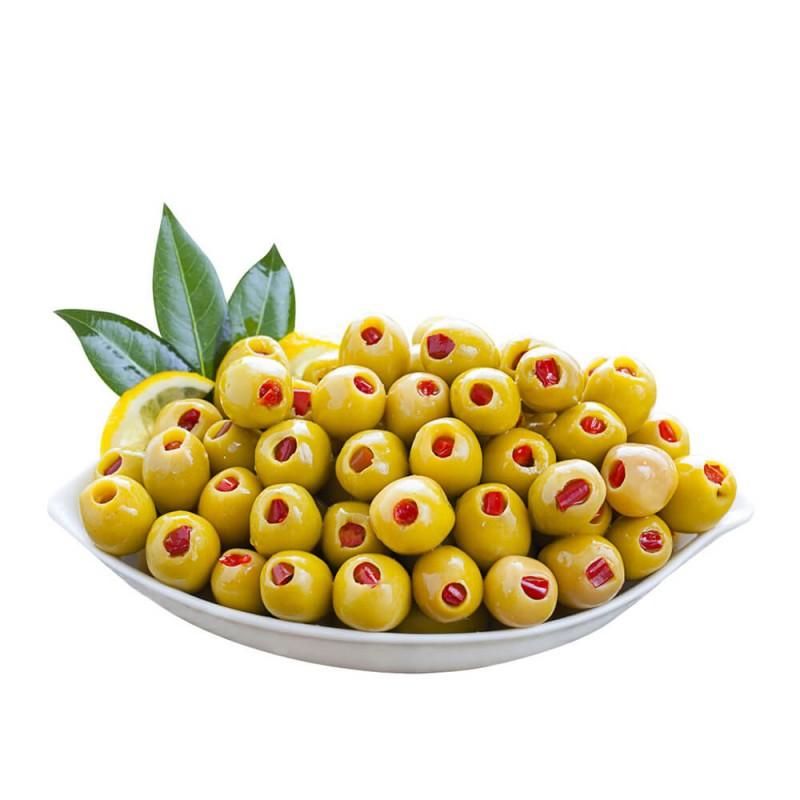 Yöre Biberli Süper Yeşil Zeytin 400 gr Cam Kavanoz ürünü