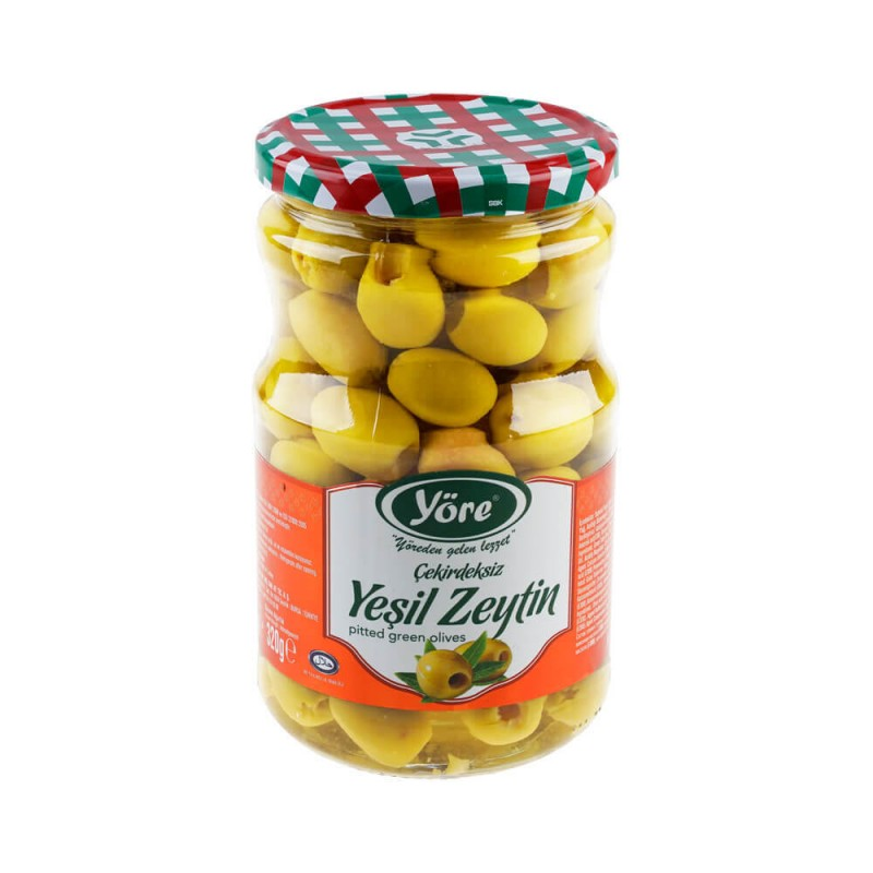 Yöre Çekirdeksiz Yeşil Zeytin 320 gr Cam Kavanoz ürünü