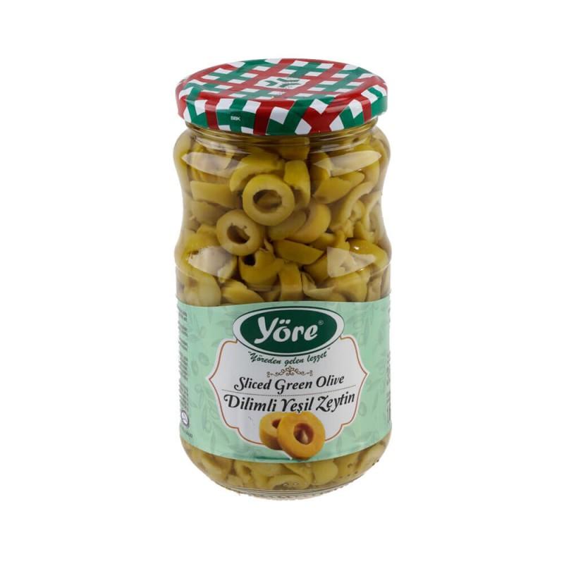 Yöre Dilimli Yeşil Zeytin 320 gr Cam Kavanoz ürünü