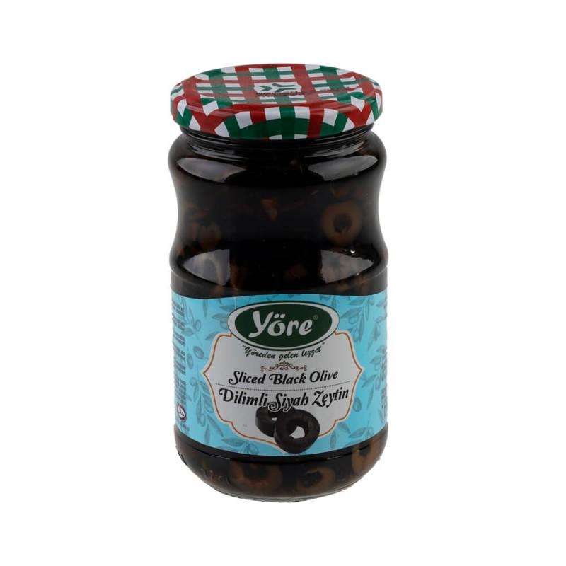 Yöre Dilimli Siyah Zeytin 320 gr Cam Kavanoz ürünü