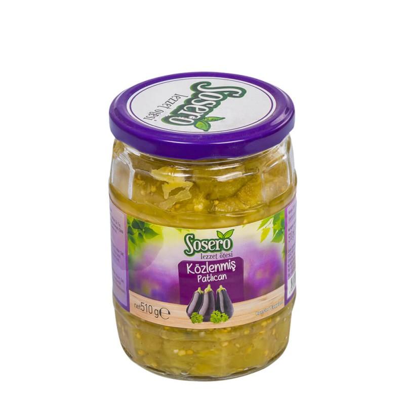 Sosero Közlenmiş Patlıcan 510 gr Cam Kavanoz ürünü