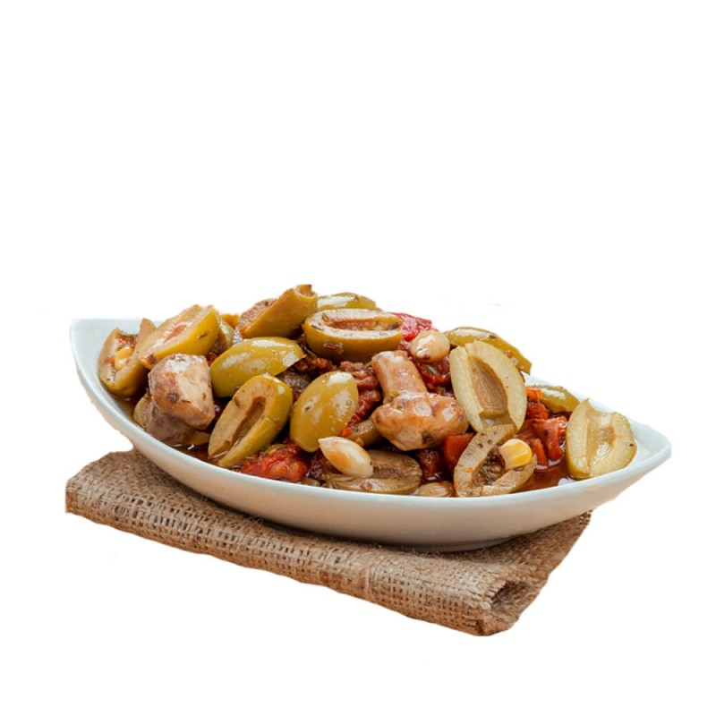Sosero Akdeniz Zeytin Salatası 1700 gr Tabak ürünü