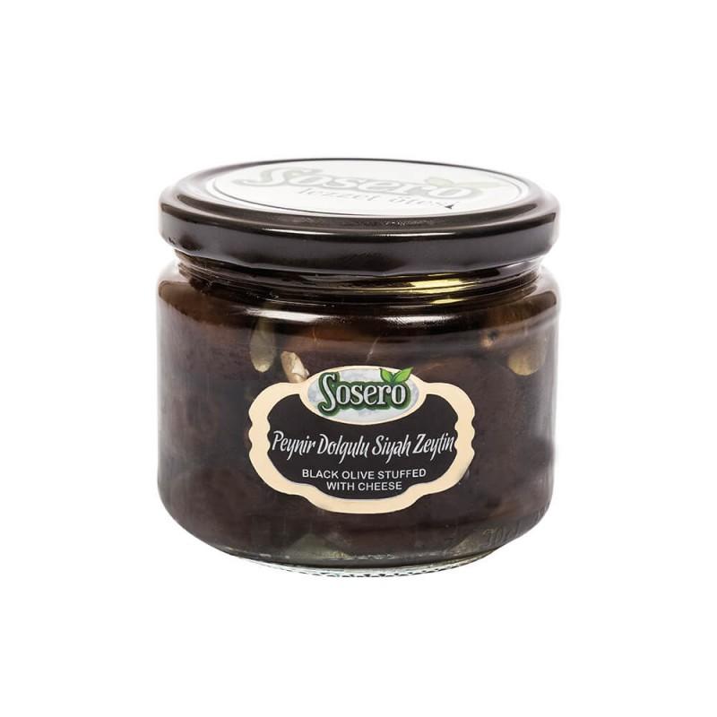 Sosero Peynir Dolgulu Siyah Zeytin 290 gr Cam Kavanoz ürünü