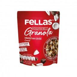 Fellas Granola - Hindistan Cevizi & Protein Bar Parçacıklı