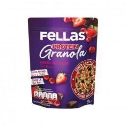 Fellas Granola - Kırmızı Meyveler & Protein Bar Parçacıklı
