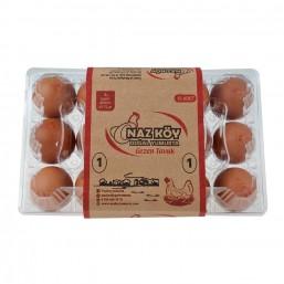 Nazköy Büyük Boy Kırmızı Yumurta 15'li