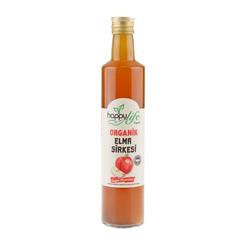 Happylife Organik Elma Sirkesi Cam 500 ml ürünü