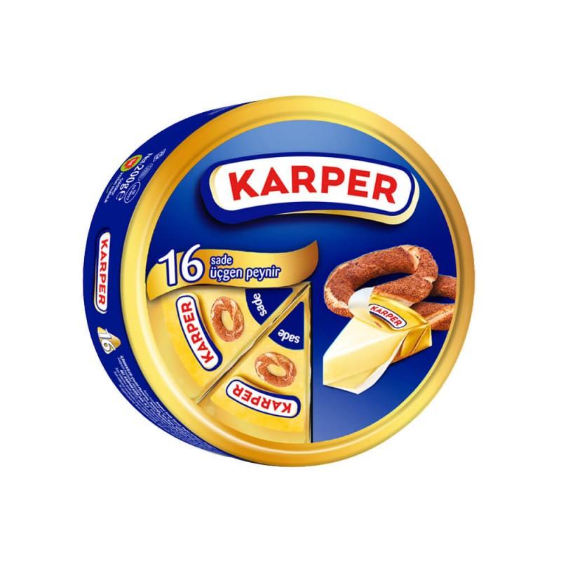 Karper Sade Üçgen Peynir 16 Adet 200 gr ürünü