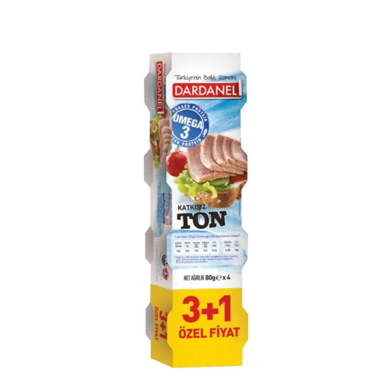 Dardanel Ton Balık 80 gr 3+1 ürünü