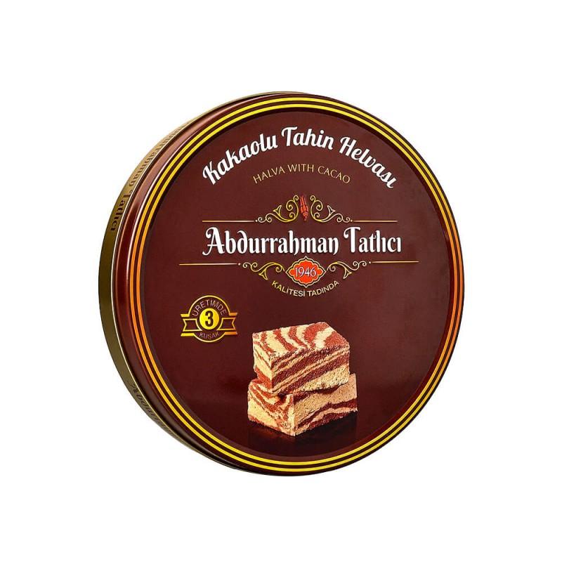Abdurrahman Tatlıcı Kakaolu Tahinli Helva 650 gr Teneke ürünü