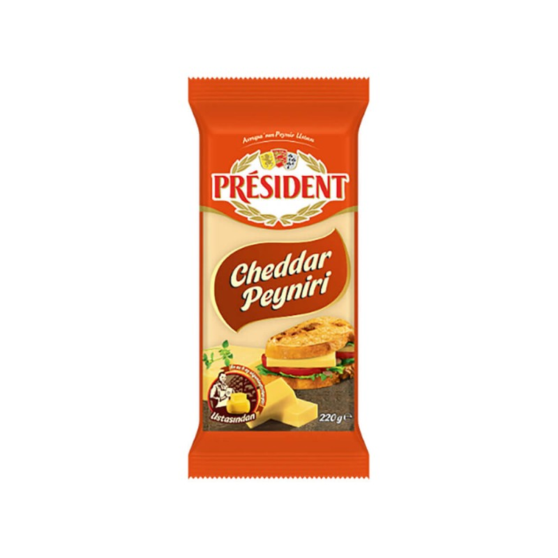 President Cheddar Peyniri 220 gr ürünü