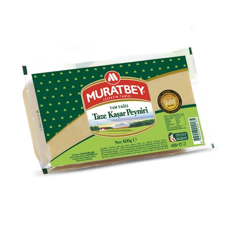 Muratbey Tam Yağlı Kaşar Peyniri 600 gr ürünü