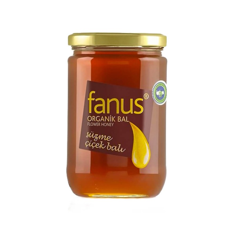 Fanus Organik Süzme Çiçek Balı 850 gr ürünü