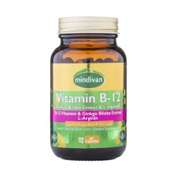 Mindivan B12 Vitamini & Ginko Bloba Ekstresi & L Arginin 60 Kapsül
