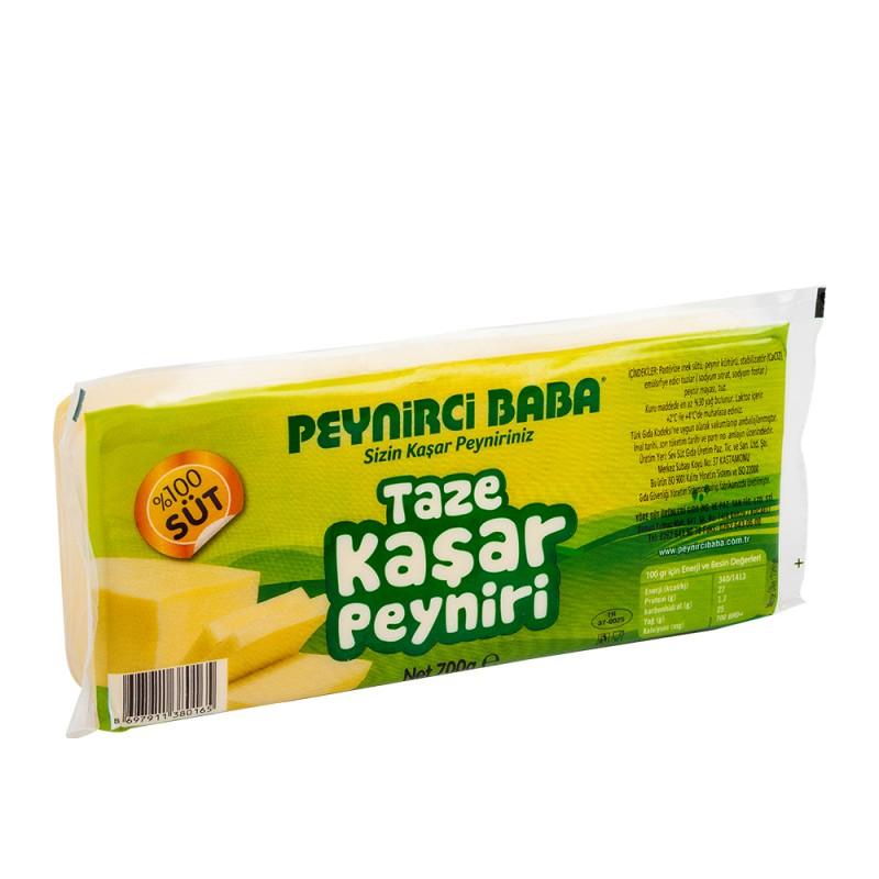 Peynirci Baba Tam Yağlı Taze Kaşar Peyniri 700 gr ürünü
