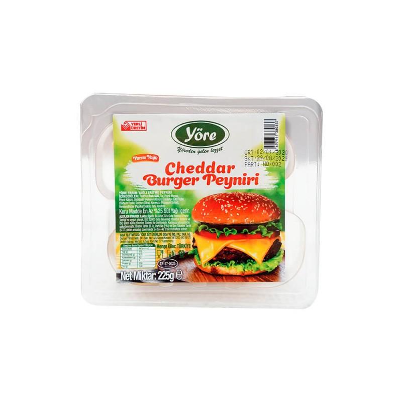 Cheddar Burger Peyniri 225 gr ürünü