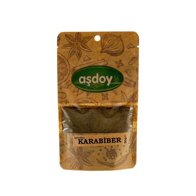 Aşdoy Öğütülmüş Karabiber 50 gr ürünü