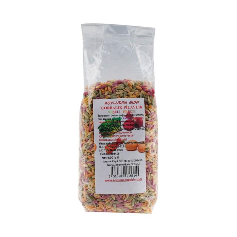 Neşeli Sebzeli Çorbalık Pilavlık Erişte 500 gr ürünü
