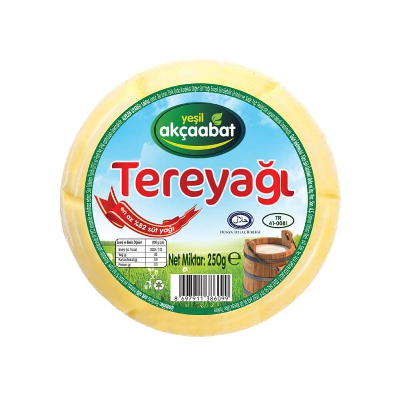 Yeşil Akçaabat Kahvaltılık Tuzsuz Tereyağı 250 gr ürünü