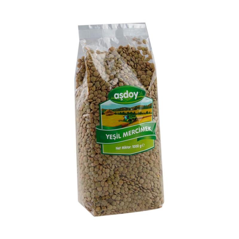 Aşdoy Yeşil Mercimek 1 kg ürünü