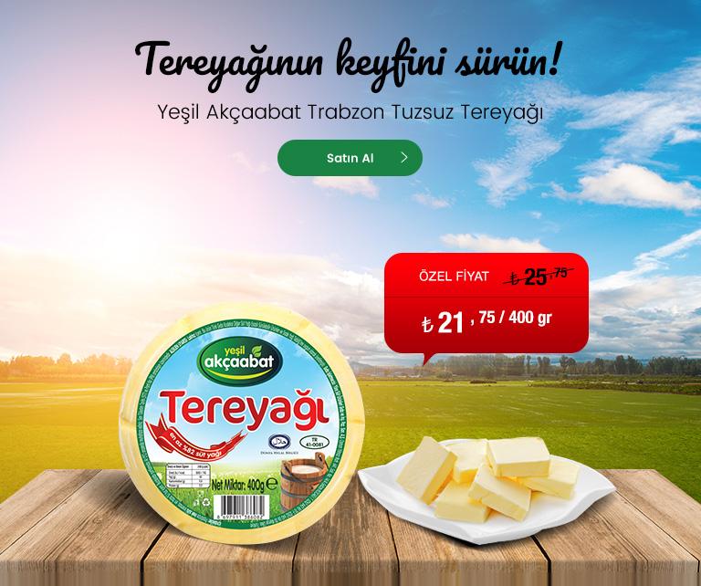 Yeşil Akçaabat Trabzon Tereyağı 400 gr