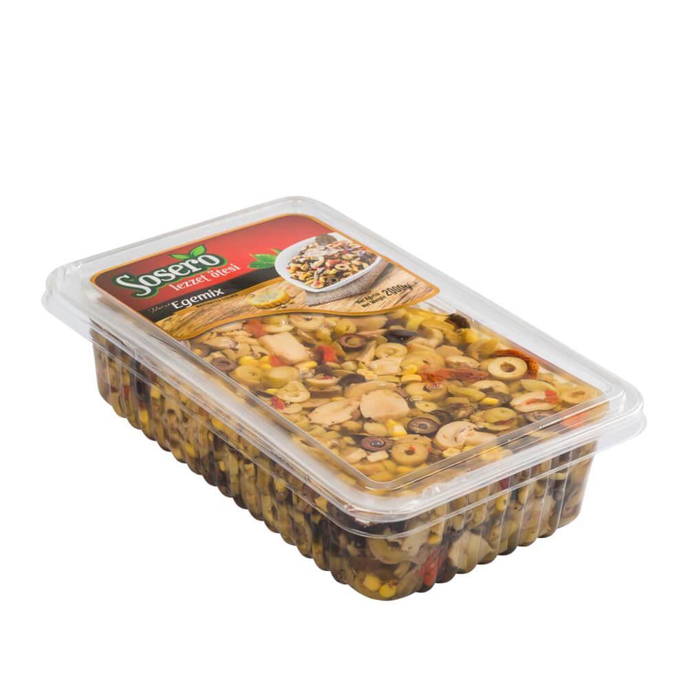 Sosero Egemix Mantarlı Zeytin Salatası 1400 gr Tabak ürünü