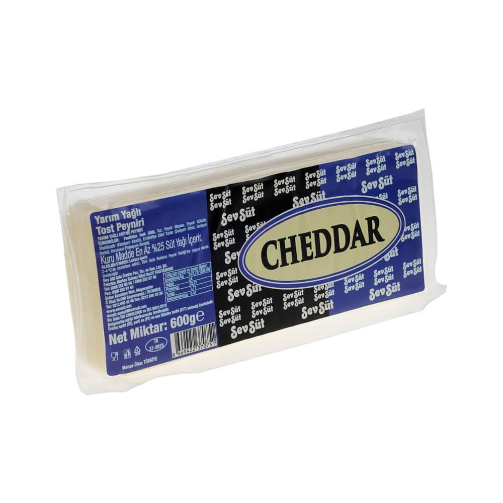 Cheddar Taze Tost Peyniri 600 gr ürünü