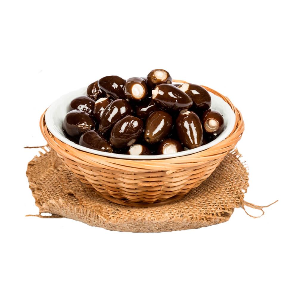 Sosero Peynir Dolgulu Siyah Zeytin 1250 gr Tabak ürünü
