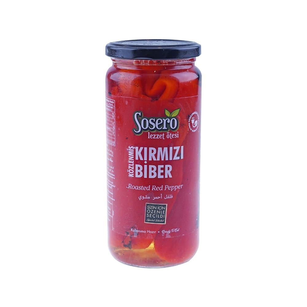 Sosero Közlenmiş Kırmızı Biber 475 gr Cam Kavanoz ürünü