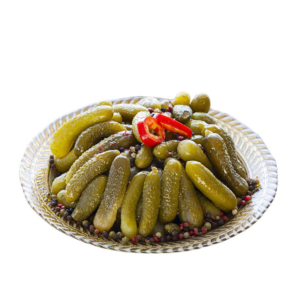 Yöre Kornişon Turşusu Cam Kavanoz 160 gr ürünü