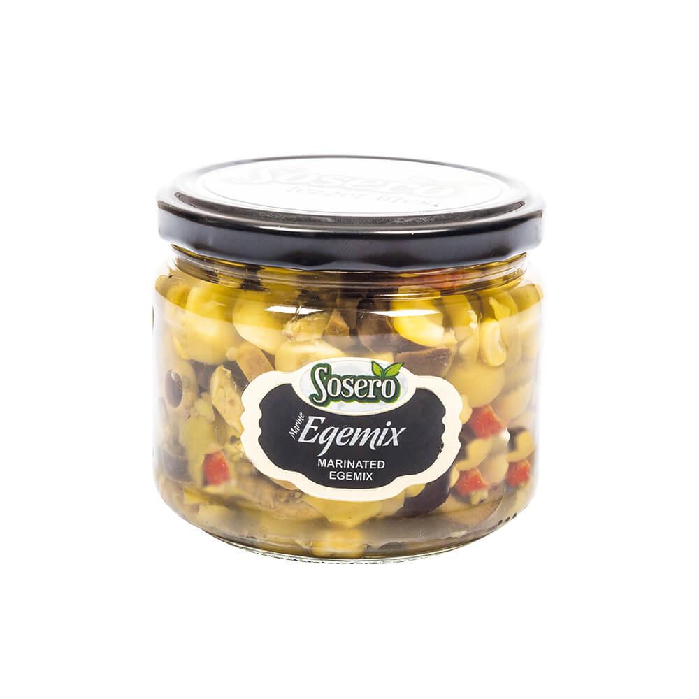 Sosero Egemix Mantarlı Zeytin Salatası 290 gr Cam Kavanoz ürünü
