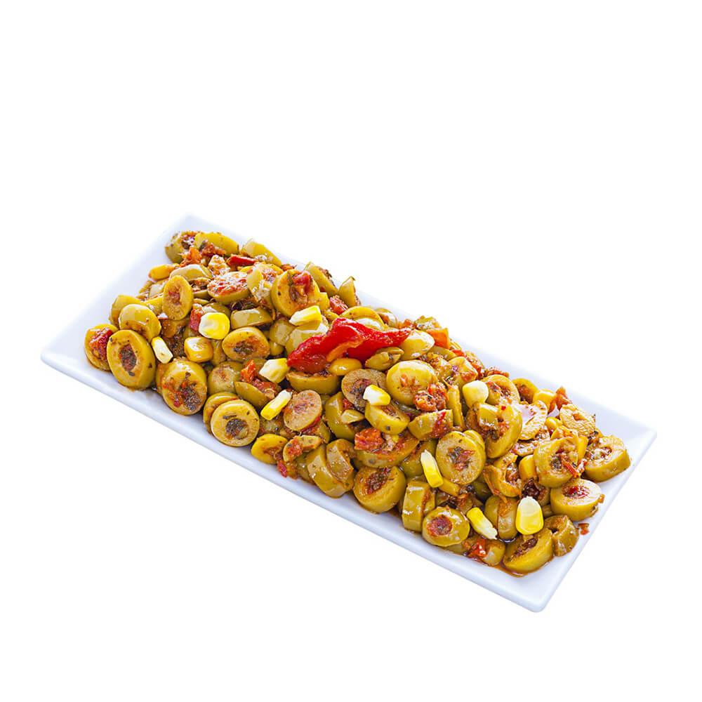 Sosero Ege Zeytin Salatası 290 gr Cam Kavanoz ürünü
