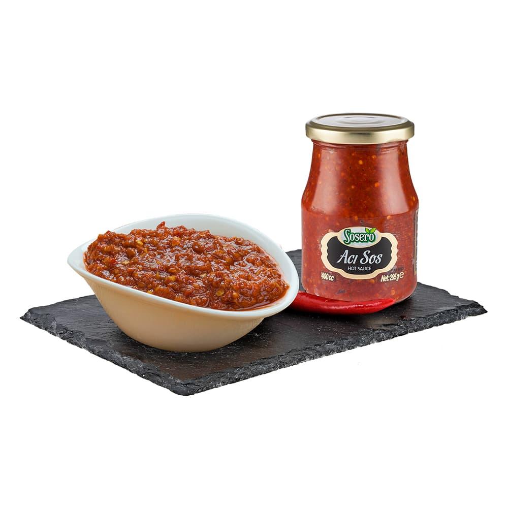 Sosero Acı Biber Sosu 355 gr Cam Kavanoz ürünü