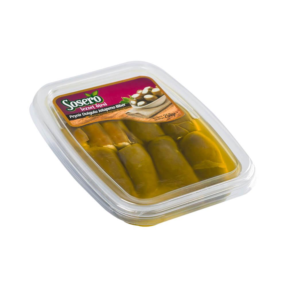 Sosero Peynir Dolgulu Jalapeno Biber 250 gr Vakum Tabak ürünü
