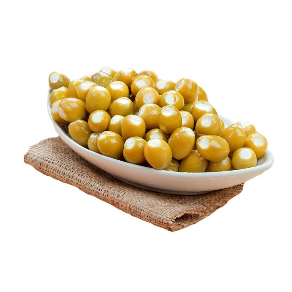 Sosero Peynir Dolgulu Yeşil Zeytin 1250 gr Tabak ürünü