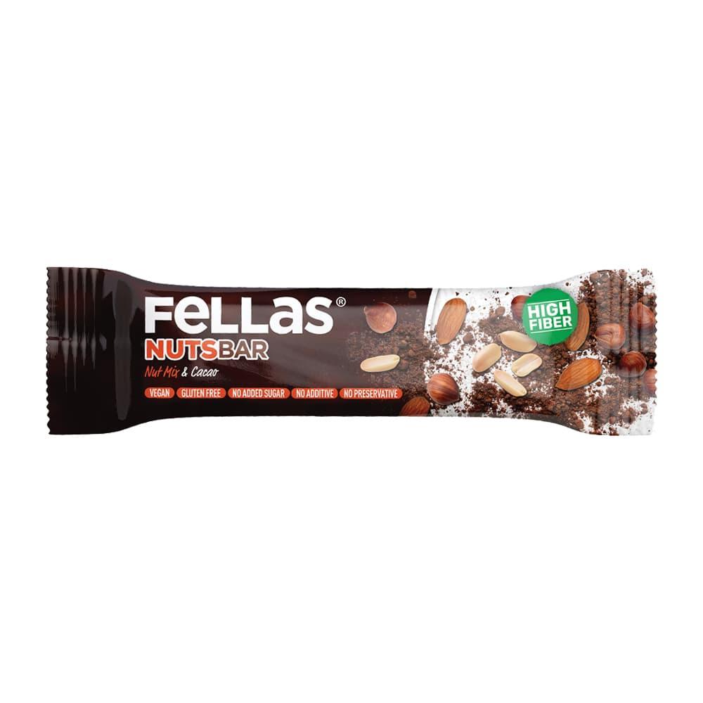 Fellas Meyve Bar - Karışık Kuruyemişli ve Kakaolu 40 gr ürünü