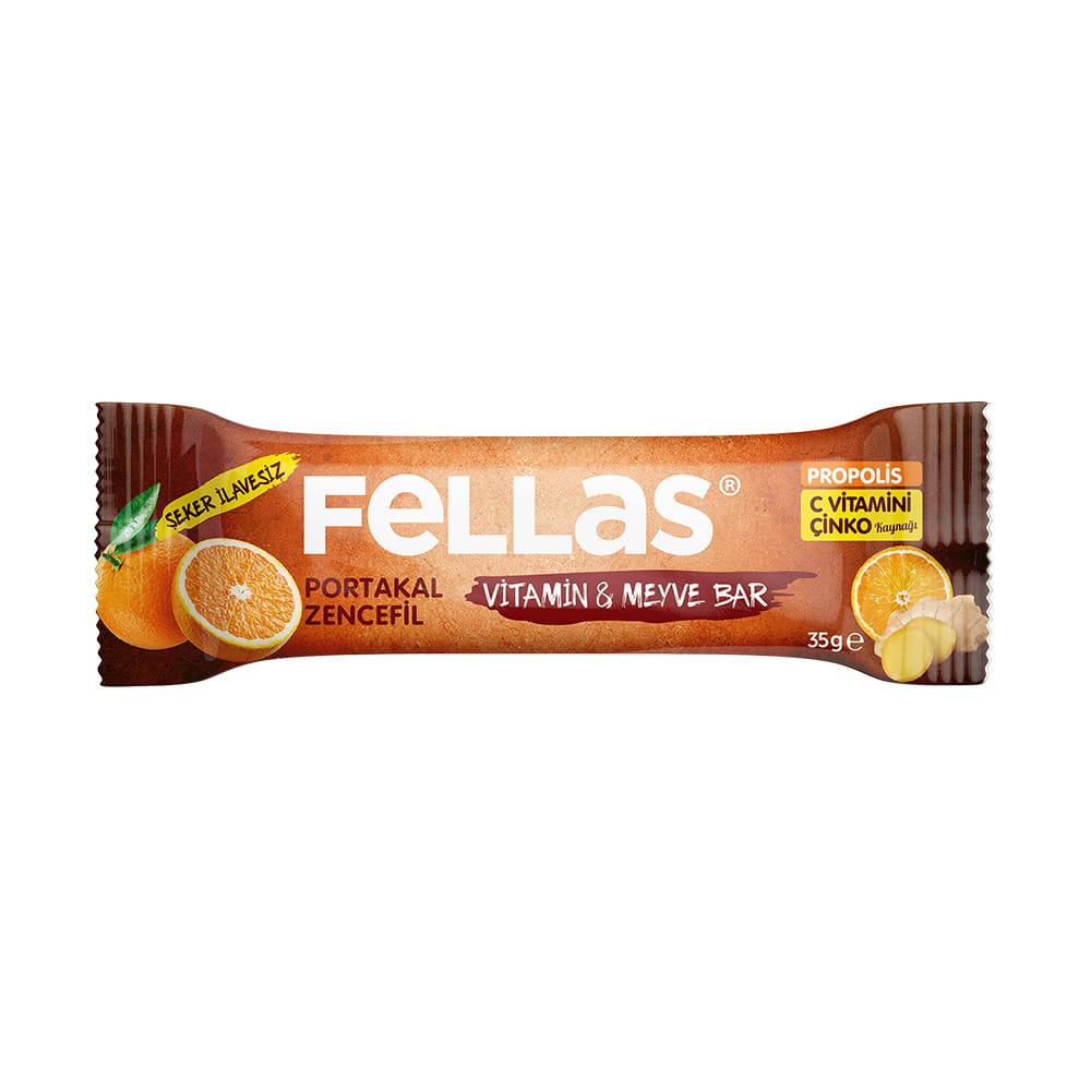 Fellas Portakallı Zencefilli Bar 35 gr ürünü