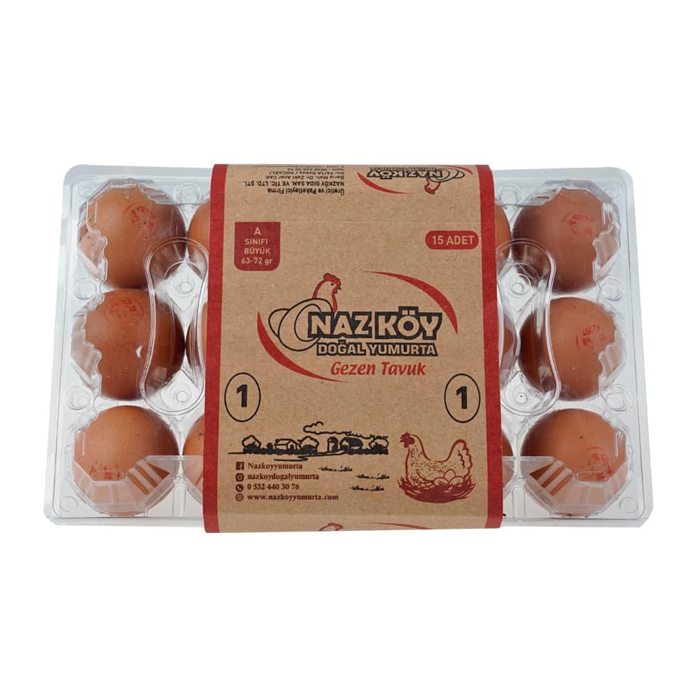 Nazköy Büyük Boy Kırmızı Yumurta 15'li ürünü