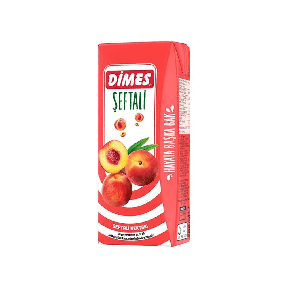 Dimes Şeftalili Meyve Nektarı 200 ml ürünü