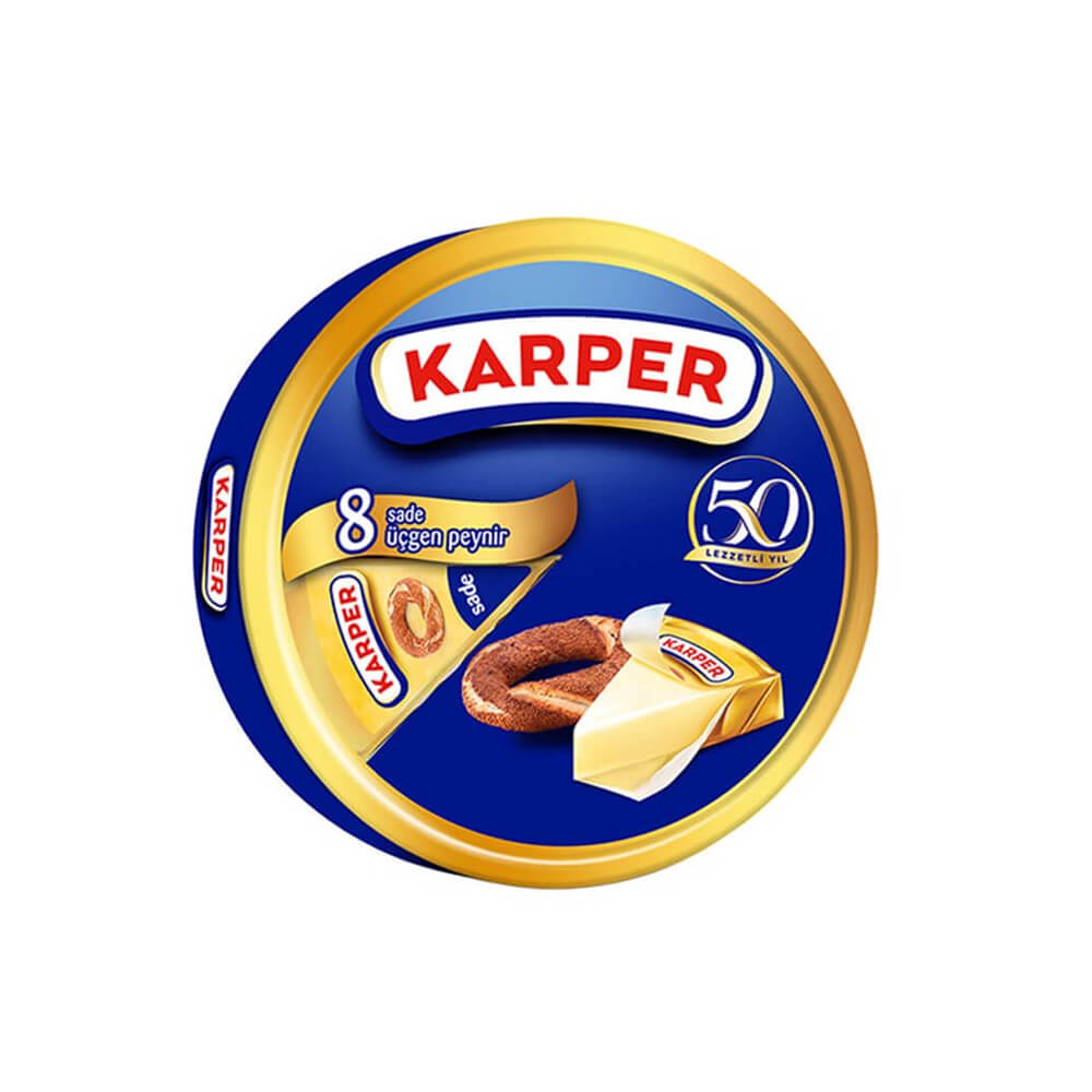 Karper Sade Üçgen Peynir 8 Adet 100 gr ürünü