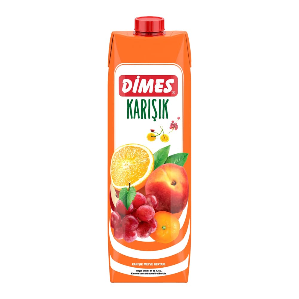 Dimes Karışık Meyveli Meyve Nektarı 1 lt ürünü