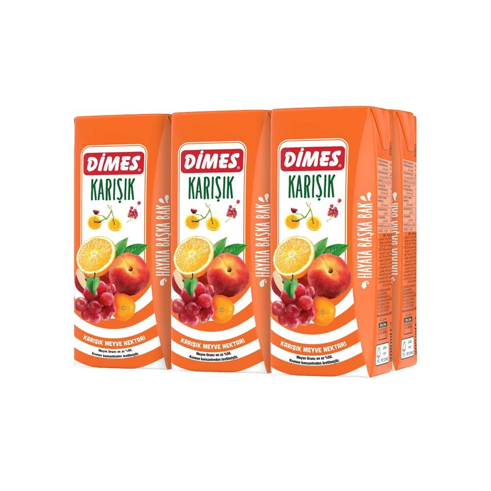 Dimes Karışık Meyve Nektarı  200 ml 6'Lı ürünü