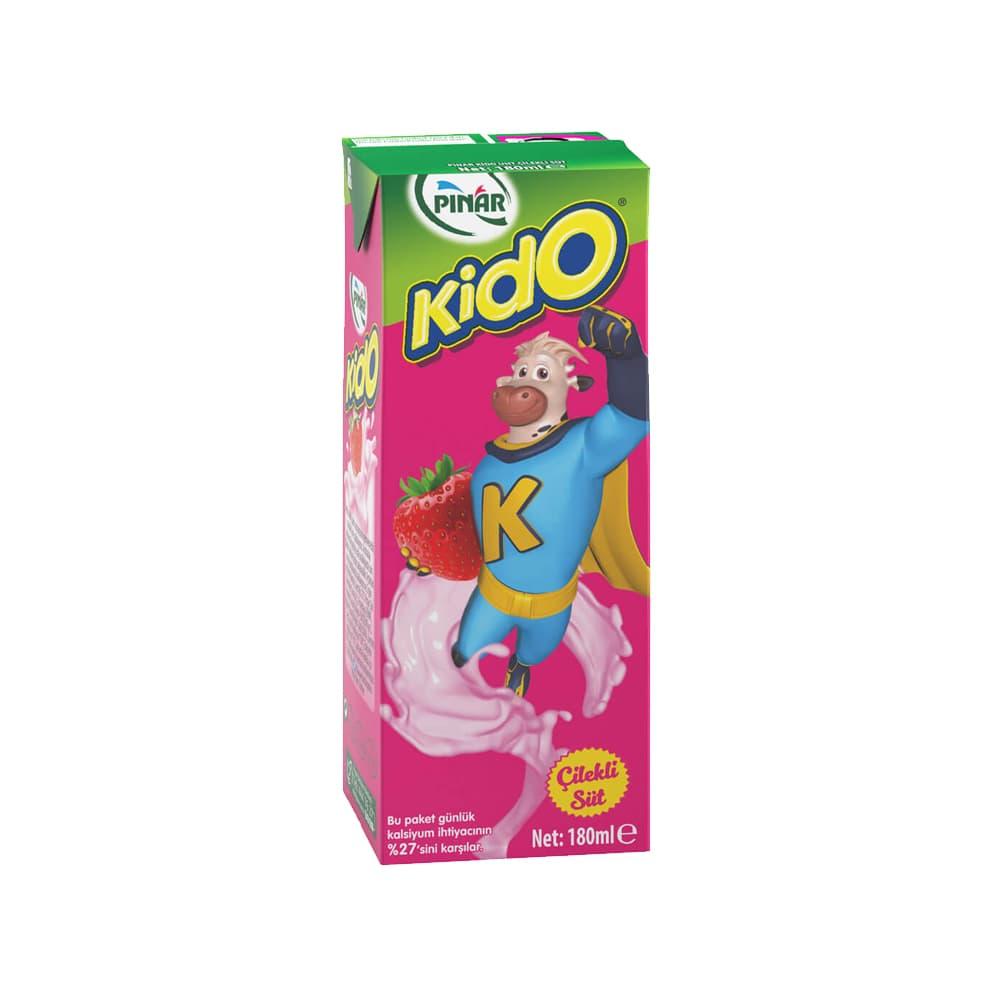 Pınar Kido Çilekli Süt 180 ml ürünü