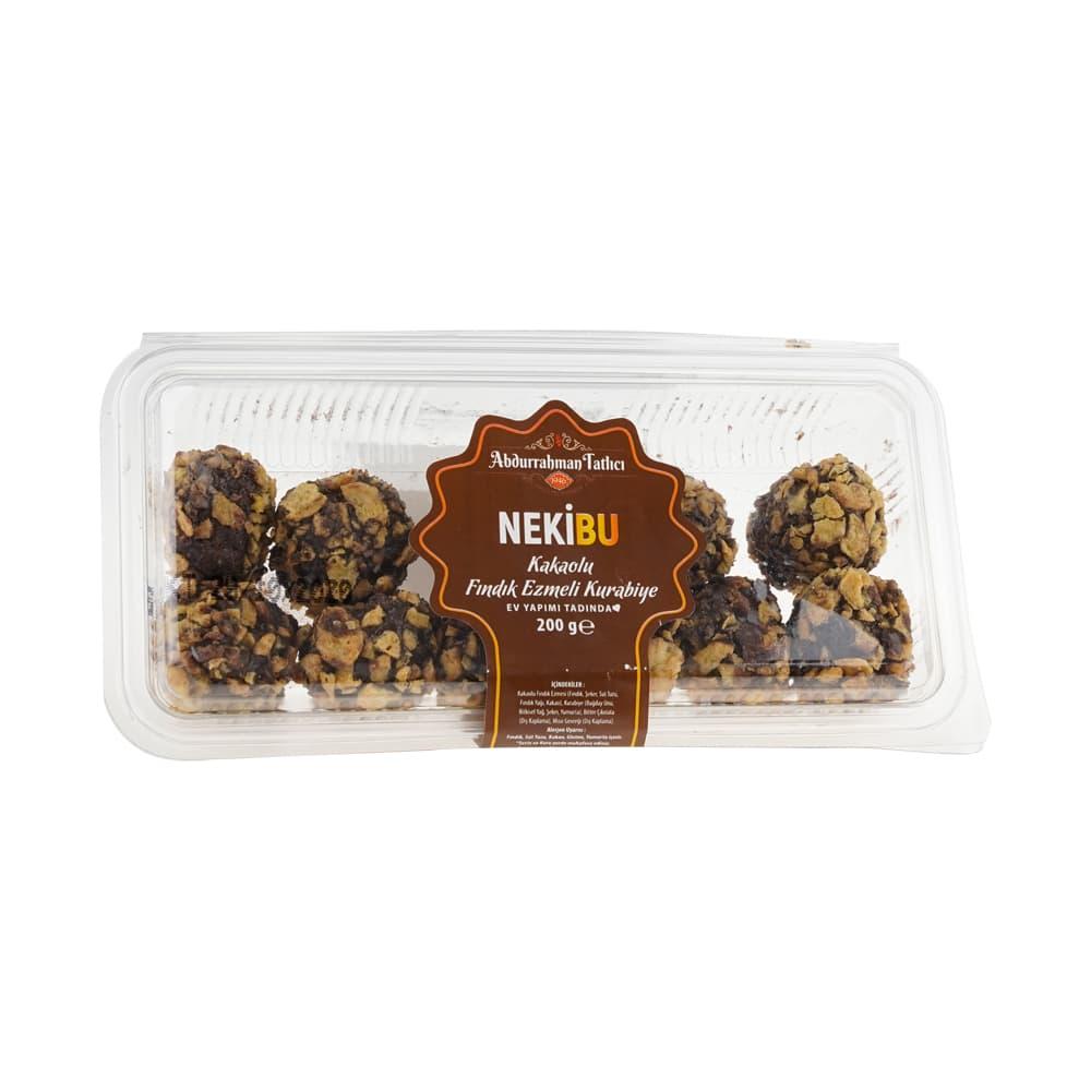 Abdurrahman Tatlıcı Nekibu Kakaolu Fındık Ezmeli Kurabiye 180 gr ürünü