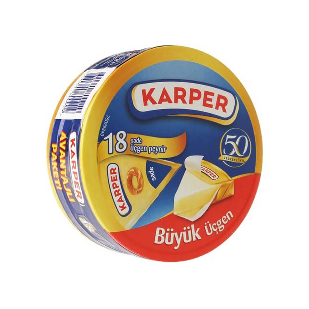 Karper Üçgen Krem Peynir 18 Adet 324 gr ürünü