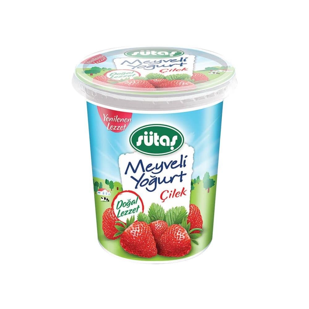 Sütaş Çilek Meyveli Yoğurt 475 gr ürünü
